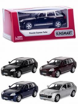 Металлическая машинка Kinsmart 1:38 «Porsche Cayenne Turbo» KT5075W, инерционная в коробке / Микс