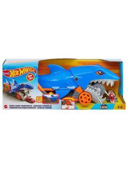 Игровой набор Mattel Hot Wheels Грузовик Голодная акула с хранилищем для машинок
