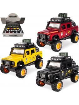 Металлическая машинка Newao Model 1:32 «Land Rover» 18 см. A2837B инерционная, свет, звук / Микс