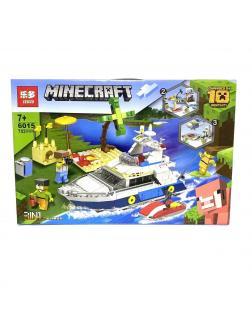 Конструктор Leduo 3в1 «Прогулочный катер» 6015 (Minecraft) 752 детали