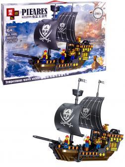 Конструктор Zhe Gao «Пиратский корабль» QL1809 (Pirates of the Caribbean) 660 деталей