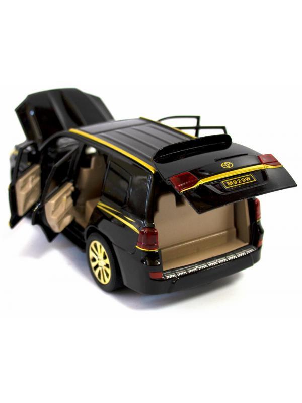 Металлическая машинка XLG 1:24 «Toyota Land Cruiser 200» 20 см. M929W-1 инерционная, свет, звук в коробке