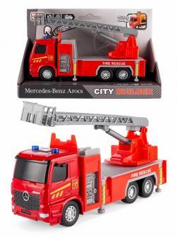 Машина инерционная Play Smart 1:38 «Mercedes-Benz Arocs: Пожарная машина» 6718 Автопарк, свет и звук / Микс