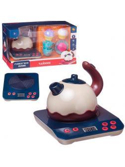 Игровой набор ABtoys Помогаю Маме Чайник на батарейках, посуда, аксессуары