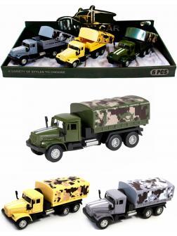 Металлическая машинка WGT Car 1:32 «Грузовик КРАЗ: Военный Фургон» 2217-10, Свет, Звук / Микс