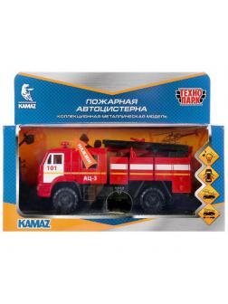 Машинка Технопарк Kамаз Пожарная, свет и звук, 15 см