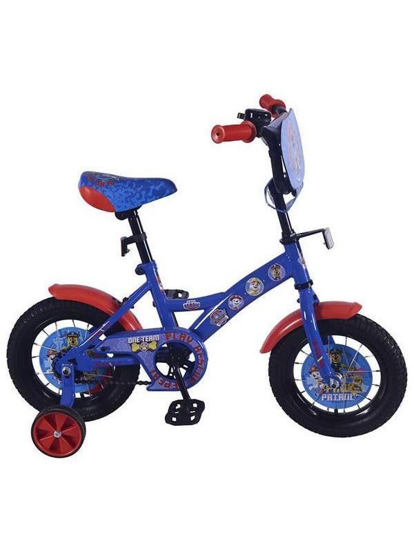 Детский велосипед Щенячий патруль12 дюймов синий с красным