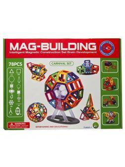 Магнитный конструктор MAG-BUILDING / 78 деталей