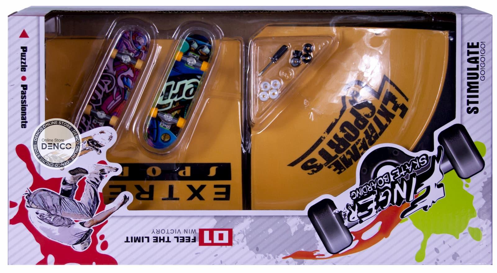 Игровой набор Рампа для трюков + 2 скейтборда с отверткой BB505D / Фингерборд