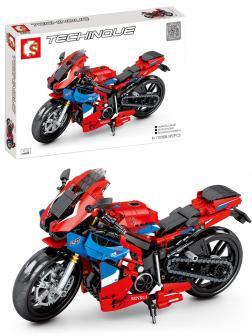 Конструктор Sembo Block «Мотоцикл Honda CBR» 701808 / 857 деталей