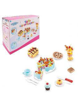 Помогаю Маме. Торт фруктовый (черничный) в наборе с аксессуарами, 75 предметов