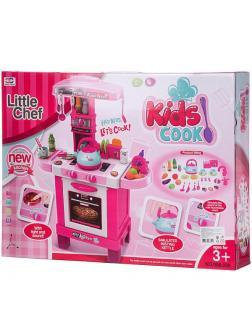 Игровой набор Junfa Кухня многофункциональная, розовая