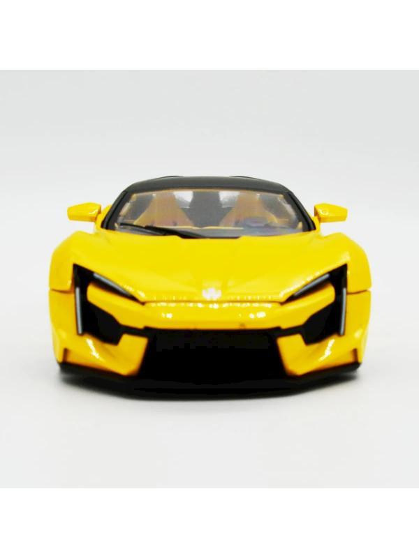 Металлическая машинка 1:24 «Lykan Hypersport» 53522-19, инерционная, свет и звук / Желтый