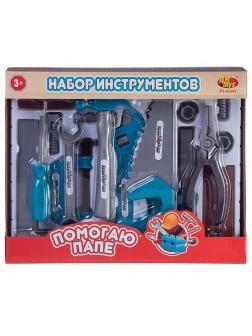 Игровой набор ABtoys Помогаю Папе Инструменты 2 вида, в коробке