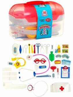 Чемоданчик с набором доктора Play Smart «Волшебная аптечка» 2552 / 35 предметов