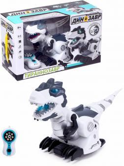 Робот-динозавр радиоуправляемый «Тираннозавр» 128А-21, световые и звуковые эффекты, работает от батареек