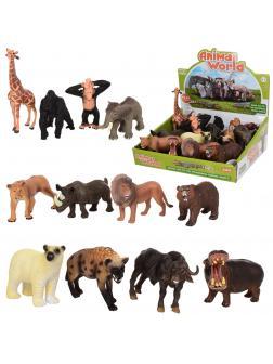 Фигурки животных Animal World «Африка» 10-13 см. 12 шт. Н021