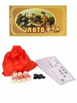 Настольная игра Русское лото «Охотники на привале» W9090, 24 х 13 см.