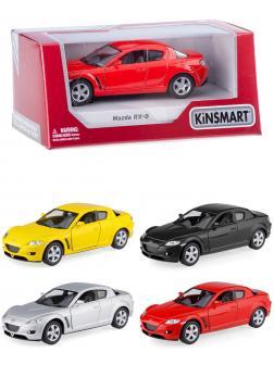 Металлическая машинка Kinsmart 1:36 «Mazda RX-8» KT5071W инерционная в коробке / Микс