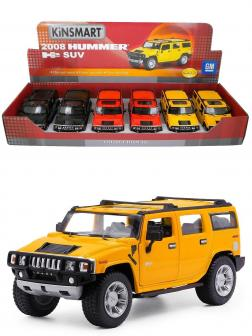 Металлическая машинка Kinsmart 1:32 «2008 Hummer H2 SUV» KT7006D / Желтый