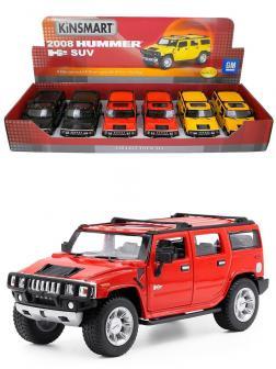 Металлическая машинка Kinsmart 1:32 «2008 Hummer H2 SUV» KT7006D / Красный