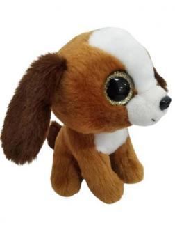 Мягкая игрушка Abtoys Собачка коричневая 15 см