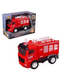 Машинка инерционная ABtoys Пожарная машина со звуковыми и световыми эффектами 1:36, 20x10x14 см