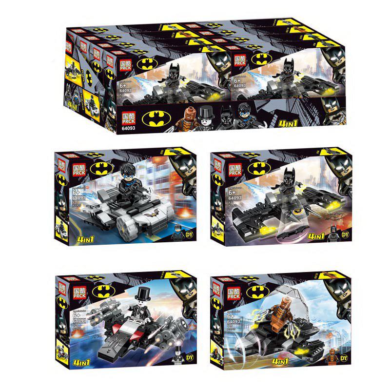 Конструктор PRCK 4в1 «Batman» 64093 (Super Heroes) комплект 4 шт.