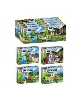 Конструктор PRCK «My world» 63079 (Minecraft) комплект 4 шт.