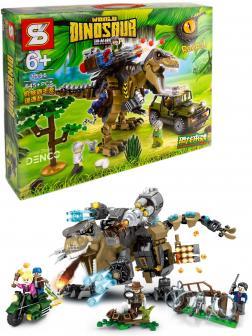 Конструктор SY «Погоня за Тираннозавром» 1596 (Jurassic World) 645 деталей