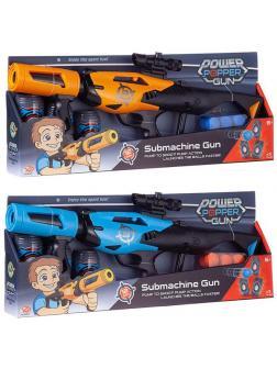 Бластер Junfa Пистолет c 12 мягкими шариками и 3 банками-мишенями