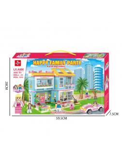 Конструктор LX «Happy family party» LXA066 / 1049 деталей