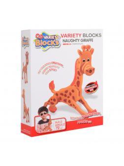 Конструктор мягкий Wabro Variety Blocks «Жираф» 3117 / 72 детали