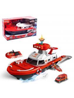Парковка «Пожарный катер» 660-A247, с машинками, световые и звуковые эффекты