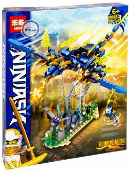 Конструктор Leduo «Синий дракон Ниндзя» 76075-2 / 334 деталей
