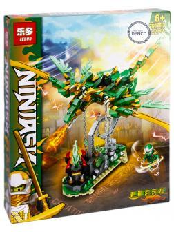 Конструктор Leduo «Зеленый дракон Ниндзя» 76075-3 (НиндзяГо) / 322 детали