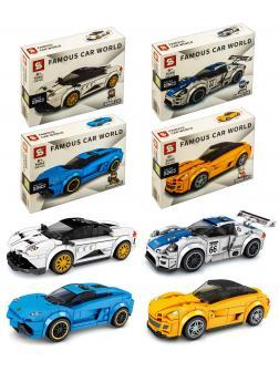 Конструктор SY «Гонки: Pagani Huayra, Lamborghini Aventador, Ferrari 599 GTO, Porsche 918 RSR» 5063-5066 / комплект 4 шт.