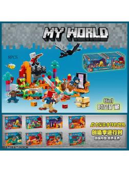 Конструктор SX «My World» 1052 (Minecraft) комплект 8 шт.