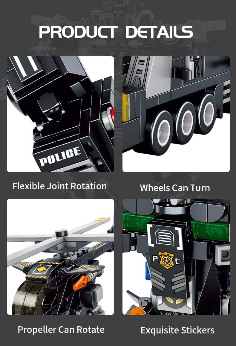 Конструктор Panlos Brick «Armored vehicle: Боевой робот Спецназа» 633060 / 832 детали