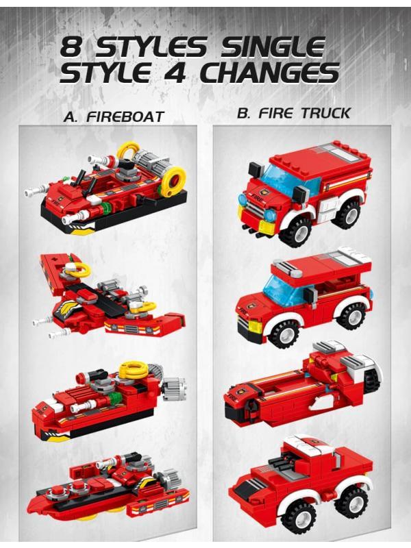 Конструктор Panlos Brick 8в1 «Fire Rescue Engine» 633028 / 836 деталей