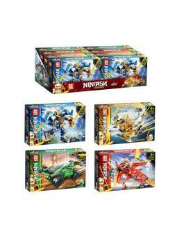 Конструктор Loong 4в1 «Ninja» A8089 (Ninjago) комплект 4 шт.