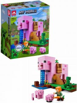 Конструктор «Дом-свинья» 11585 (Minecraft 21170) / 506 деталей