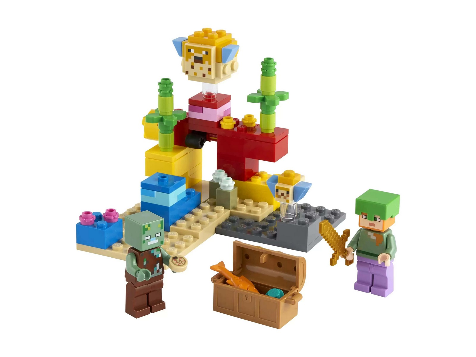 Конструктор «Коралловый риф» 11584 (Minecraft 21164) 104 детали