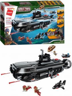 Конструктор Qman «Захват подводной лодки» 1730 Combat Zones FIre / 1196 деталей