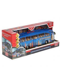 Машинка Технопарк Автобус Экскурсионный со светом и звуком 30 см