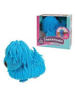 Интерактивная игрушка ABtoys Макаронка Собака голубая ходит, звуковые и музыкальные эффекты.