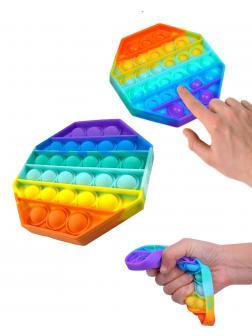 Игрушка-антистресс Pop-It / Бесконечная пупырка «Радужный ромб» 12.5см, Н11662