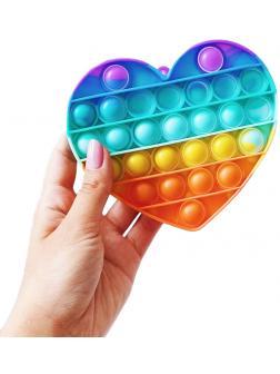 Игрушка-антистресс Pop-It / Бесконечная пупырка «Радужное сердце» 12.5см, Н11660