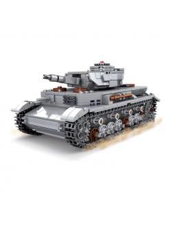 Конструктор Kazi «Танк Panzerkampfwagen IV» со светом, KY82045 / 576 деталей