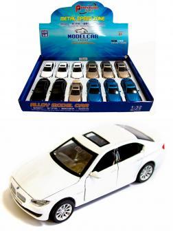 Металлическая машинка Proswon 1:32 «BMW 5» 66034 свет и звук, инерционная / Белый